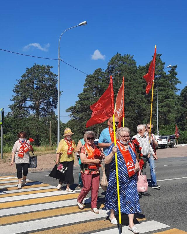 luga 100721 2 640x801 - Коммунисты Луги провели мероприятие, посвященное 80-летию со дня начала обороны на Лужском рубеже