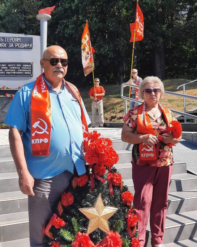 luga 100721 3 640x801 - Коммунисты Луги провели мероприятие, посвященное 80-летию со дня начала обороны на Лужском рубеже