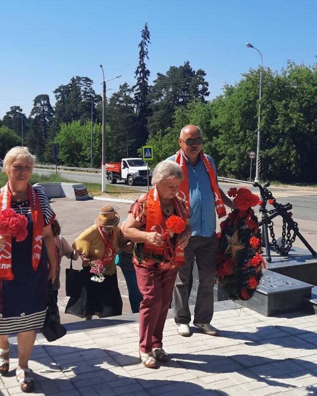 luga 100721 7 640x801 - Коммунисты Луги провели мероприятие, посвященное 80-летию со дня начала обороны на Лужском рубеже